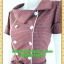 2554ชุดแซกทำงาน เสื้อผ้าคนอ้วนชุดลายตารางทรงสุภาพเนี๊ยบแบบ หรูสไตล์สาวลุคใหม่มั่นใจโดดเด่นด้วยแถบขาวคู่ยาวพรางรูปร่างมีกระเป๋าล้วงซ้ายขวา thumbnail 3