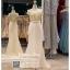 รหัส ชุดราตรี : PF144 ชุดราตรียาว สวยๆ พร้อมส่ง สีครีมทอง แบบมีแขนเปิดไหล่ โอบไหล่ ตัวเสื้อผ้ากลิตเตร์ กระโปรงผ้าชีฟอง ใส่ไปงานแต่งงาน งานกาล่าดินเนอร์ ชุดงานเลี้ยง ชุดพิธีกร งานพรอม งานบายเนียร์ สวยปังมาก thumbnail 1