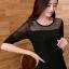 เสื้อแฟชั่น คอกลมแขนยาว ผ้าชีฟองสวยหรู-1452-สีดำ thumbnail 1