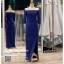 รหัส ชุดราตรียาวคนอ้วน : PK006 ชุดแซก ชุดราตรียาวมีแขน หรู สีน้ำเงิน ไหล่ปาด เรียบหรู เหมาะสำหรับงานแต่งงาน งานกลางคืน กาล่าดินเนอร์ thumbnail 1