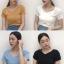 เสื้อไหมพรมผสม แต่งผ้าไขว้ด้านหน้าสวยหวานสไตล์เกาหลี มี 4 สี รหัส 1683