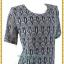 3248เสื้อคอกลมสีเทาผ้าลูกไม้ยืดลายฉลุซับในตัวเสื้ออก44-48เอว40-44 thumbnail 2