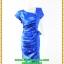 3054เสื้อผ้าคนอ้วน ชุดราตรีออกงานสีน้ำเงินสุดหรูคอวีจับเดรฟสุดปราณีตสวยงามหรูหรา น่าค้นหาเป็นที่สุด สวยและมั่นใจสไตล์ออกงาน thumbnail 1