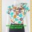 2684ชุดแซกทำงาน เสื้อผ้าคนอ้วนลายดอกคอตลบเสริมโบช้างปกสไตล์คลาสสิคเนี๊ยบ กระโปรงทรงเข้าเอสวมใส่ทำงานสุภาพเรียบร้อย thumbnail 3
