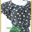 2944เสื้อผ้าคนอ้วน ชุดทำงานสไตล์แขนล้ำสวยมั่นใจแบบสาวอวบโมเดิร์นล้ำ สีดำลายจุดเล็กสุดคลาสสิคได้ทุกงาน thumbnail 2