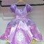 ชุดเด็ก : เดรสแขนกุด เจ้าหญิงโซเฟีย สีม่วง แต่งกุหลาบ