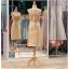 รหัส ชุดราตรี : PFS039 ชุดแซกผ้าลูกไม้งานสวยตกแต่งกริตเตอร์ ชุดราตรีสั้นหรูสีทอง สวย สง่า ดูดีแบบเจ้าหญิง ใส่เป็นชุดไปงานแต่งงาน งานกาล่าดินเนอร์ งานเลี้ยง งานพรอม งานรับกระบี่ thumbnail 2