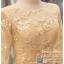 รหัส ชุดราตรีสั้น :PFS060 ชุดไปงานแต่งงานแขนยาวตกแต่งลูกไม้ ชุดราตรีสั้นผ้าไหมสีทองนสวยหรู ชุดเดรสออกงานสามารถใส่เป็นชุดไปงานแต่งงาน กาล่าดินเนอร์ ชุดไทยประยุกต์ thumbnail 4