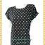 3253เสื้อคนอ้วนผ้าไหมอิตาลี่เนื้อเบาสวมใส่สบายผิวลื่นพิมพ์ลายกราฟฟิคขาวดำคอกลมแขนเบิ้ลอก40-46เอว37-42 thumbnail 1