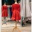 รหัส ชุดราตรีสั้น : BB066 ชุดแซก ชุดราตรี มีแขน สีแดง เหมาะใส่งานแต่งงาน สวย สง่า ดูดีแบบเจ้าหญิง ใส่เป็นชุดงานเช้า ชุดไปงานแต่งงาน งานกาล่าดินเนอร์ งานเลี้ยง งานพรอม งานรับกระบี่ thumbnail 2