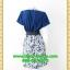 2764ชุดเดรสทำงาน เสื้อผ้าคนอ้วนชุดคอปกแต่งลายน้ำเงินกระโปรงลายสีน้ำเงินสไตล์คริสต์มาสสวมใส่ทำงานรับปีใหม่ โดดเด่นด้วยลุคหวานแบบไทยๆ พร้อมเข็มขัดฟรี thumbnail 4
