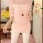 เสื้อแฟชั่น ผ้าชีฟอง ใส่เที่ยวหรือออกงานก็ได้-1200-สีชมพู thumbnail 1