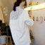 เสื้อเชื๊ตแฟชั่นกึ่งเดรส คอปกลายริ้วสวยเก๋สไตล์เกาหลี-1707 thumbnail 1