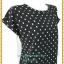 3253เสื้อคนอ้วนผ้าไหมอิตาลี่เนื้อเบาสวมใส่สบายผิวลื่นพิมพ์ลายกราฟฟิคขาวดำคอกลมแขนเบิ้ลอก40-46เอว37-42 thumbnail 3