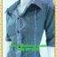 2350ชุดทํางาน เสื้อผ้าคนอ้วนปกเชิ๊ตกระดุมหน้าแขนยาวทรงเอเรียบเล่นลายปกแขนสาบ สไตล์เท่คล่องตัวกระเป๋าล้วงซ้ายขวา thumbnail 3