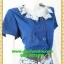 2764ชุดเดรสทำงาน เสื้อผ้าคนอ้วนชุดคอปกแต่งลายน้ำเงินกระโปรงลายสีน้ำเงินสไตล์คริสต์มาสสวมใส่ทำงานรับปีใหม่ โดดเด่นด้วยลุคหวานแบบไทยๆ พร้อมเข็มขัดฟรี thumbnail 2