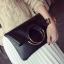 กระเป๋าแฟชั่นทรงเหลี่ยมแต่งที่หิ้วเป็นห่วงทองสวยหรูสไตล์เกาหลี-B027 thumbnail 1