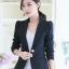 เสื้อสูทผู้หญิงแฟชั่นสีดำใส่ทำงาน สไตล์เรียบหรู 5 size S/M/L/XL/2XL รหัส 1632 thumbnail 1
