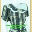 2592ชุดทํางาน เสื้อผ้าคนอ้วนลายกราฟฟิคตัดต่อสลับพื้นปกหยักสะดุดตา วางลายสลับทางลงเพิ่มความโดดเด่นสวมใส่ทำงานสไตล์หวานคลาสสิค thumbnail 2