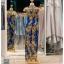 รหัส ชุดกี่เพ้า : KPL037 ชุดกี่เพ้าแบบยาว ผ้าลูกไม้เนื้อดีประดับเลื่อมทอง สีน้าเงิน สวย หรู และสง่ามากๆ เจ้าสาวที่มองหา ชุดกี่เพ้าประยุกต์ สำหรับใส่ในพิธียกน้ำชา ชุดส่งตัว ถ่ายพรีเวดดิ้ง ชุดแต่งงานตามธรรมเนียมจีน แนะนำคะ สวยมาก thumbnail 2