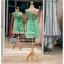รหัส ชุดราตรีสั้น : PFS018 ชุดราตรีสั้นผ้าไหม สีเขียว แบบไหล่เดี่ยว ผ้ากลิตเตอร์ สวยหรูดูดีสุดๆ ใส่ไปงานหมั้นเช้า ออกงานกลางวัน งานแต่งงานกลางคืน งานเลี้ยง งานประกวด งานรับปริญญา งานรับรางวัล ชุดพิธีกร ชุดถ่ายพรีเวดดิ้ง thumbnail 2