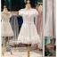 รหัส ชุดราตรีสั้น : BB114 ชุดแซก ชุดราตรี แขนกุด สีขาว เหมาะใส่งานแต่งงาน งานหมั้น งานกลางวัน กลางคืน ชุดถ่ายพรีเวดดิ้งใส่ถ่ายพรีเวดดิ้งแนวเจ้าหญิง thumbnail 1