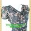 2693เสื้อผ้าคนอ้วน ชุดทำงานคอถ่วงลายกุหลาบแซมสลับดำลายกราฟฟิคในเนื้อผ้ายืดคอถ่วงแขนจีบไหล่ย่นด้านข้าง thumbnail 2