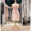รหัส ชุดราตรีคนอ้วน :PFS028 ชุดแซกผ้าลูกไม้งานสวยตกแต่งลูกไม้กริตเตอร์ ชุดราตรีสั้นคนอ้วนหรูสีชมพู สวย สง่า ดูดีแบบเจ้าหญิง ใส่เป็นชุดไปงานแต่งงาน งานกาล่าดินเนอร์ งานเลี้ยง งานพรอม งานรับกระบี่ thumbnail 1