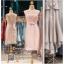 รหัส ชุดราตรี :PFS028 ชุดแซกผ้าลูกไม้งานสวยตกแต่งลูกไม้กริตเตอร์ ชุดราตรีสั้นหรูสีชมพู สวย สง่า ดูดีแบบเจ้าหญิง ใส่เป็นชุดไปงานแต่งงาน งานกาล่าดินเนอร์ งานเลี้ยง งานพรอม งานรับกระบี่ thumbnail 1