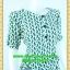 2509ชุดเดรสทำงาน เสื้อผ้าคนอ้วนผ้าลายแมวเขียวแนวฟรีสไตล์เอวถ่วง คอเหลี่ยมแขนยาวครึ่งศอกสปอร์ตลุยกระดุมหน้า thumbnail 2