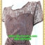 2489เสื้อผ้าคนอ้วน ชุดทำงานชุดคอกลมลูกไม้ลายดอกหวานแต่งแขนโปร่งสไตล์หรูเรียบพรางสรีระไม่ซ้ำใคร thumbnail 3