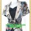 2666ชุดทํางาน เสื้อผ้าคนอ้วนผ้าลายไทยวินเทจ เสื้อนอกคลุมมีชุดด้านในเย็บติดเข้ารูปร่างเอวมีสัดส่วนทรวดทรงโฉบเฉี่ยวมั่นใจแบบสไตล์สาวทำงานกระโปรงทรงสอบมีซับใน thumbnail 3