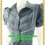 2587ชุดทํางาน เสื้อผ้าคนอ้วนชุดลายตารางผ้าแอร์โร่ปกเชิ๊ต แขนตุ๊กตา กระโปรงย้วย สไตล์หวานเรียบร้อย กระดุมหน้า แต่งเกล็ดด้านหน้าผูกโบเอว thumbnail 3