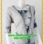 2406ชุดทํางาน เสื้อผ้าคนอ้วนเทาลายวินเทจตัดต่อผ้าพื้นและลายคั่นด้วยกุ้นสี แขนยาว สไตล์เนี๊ยบสุดหรูมีรสนิยมเลือกชุดทำงาน thumbnail 2