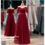 รหัส ชุดราตรียาวคนอ้วน : PF071 ชุดไปงานแต่ง ชุดราตรียาว หรู สีแดง แขนยาว เรียบหรู เหมาะสำหรับงานแต่งงาน งานกลางคืน กาล่าดินเนอร์ thumbnail 1