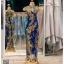 รหัส ชุดกี่เพ้า : KPL037 ชุดกี่เพ้าแบบยาว ผ้าลูกไม้เนื้อดีประดับเลื่อมทอง สีน้าเงิน สวย หรู และสง่ามากๆ เจ้าสาวที่มองหา ชุดกี่เพ้าประยุกต์ สำหรับใส่ในพิธียกน้ำชา ชุดส่งตัว ถ่ายพรีเวดดิ้ง ชุดแต่งงานตามธรรมเนียมจีน แนะนำคะ สวยมาก thumbnail 1