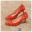 รหัส รองเท้าไปงาน : RR007 รองเท้าเจ้าสาว พร้อมส่ง สีแดง ปักดิ้นทอง สวย สง่า ดูดีแบบเจ้าหญิง ใส่เป็นรองเท้าคู่กับชุดกี่เพ้า ชุดยกน้ำชา ชุดงานหมั้น หรือ ใส่ออกงาน กลางวัน กลางคืน สวยสง่าดูดีมากคะ ราคาถูกกว่าห้างเยอะ thumbnail 3