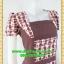 2589ชุดทํางาน เสื้อผ้าคนอ้วนคอเหลี่ยมลายสก็อตแต่งสลับพื้นพรางสรีระสไตล์เนี๊ยบโมเดิร์น thumbnail 2