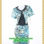 3028เสื้อผ้าคนอ้วน ชุดทำงานคอกลมสีดำแต่งกั๊กลายเสือสไตล์เกาหลีสวมใส่ทำงานน่ารักสะดุดตาให้เลือกสวมใส่ทำงาน thumbnail 1