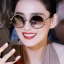 แว่นตาแฟชั่นกันแดด เลนส์กลม แต่งกรอบสุดเก๋สไตล์เกาหลี รหัส G003-สีดำ thumbnail 1
