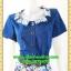 2764ชุดเดรสทำงาน เสื้อผ้าคนอ้วนชุดคอปกแต่งลายน้ำเงินกระโปรงลายสีน้ำเงินสไตล์คริสต์มาสสวมใส่ทำงานรับปีใหม่ โดดเด่นด้วยลุคหวานแบบไทยๆ พร้อมเข็มขัดฟรี thumbnail 3