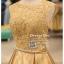 รหัส ชุดราตรี :PF104 ชุดราตรีสั้น เดรสออกงาน ชุดไปงานแต่งงาน ชุดแซก สวยด้วยลูกไม้ด้านบนและเรียบหรูด้วยผ้าซาติน thumbnail 3