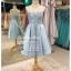 รหัส ชุดราตรียาว :PF047 ชุดราตรีสั้น เดรสออกงาน ชุดไปงานแต่งงาน ชุดแซก สีฟ้า เกาะอก เหมาะสำหรับงานแต่งงาน งานกลางคืน กาล่าดินเนอร์ thumbnail 1