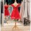 รหัส ชุดราตรีสั้น : BB033 ชุดราตรีสั้น เดรสออกงาน ชุดไปงานแต่งงานสีแดง ชุดแซกงานสวยมาก ประดับโบว์ที่เอวเพิ่มความน่ารัก thumbnail 2