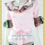 3148ชุดทํางาน เสื้อผ้าคนอ้วนสีชมพูผ้าเครปลายโดดเด่นสะดุดตาแขนทรงระฆัง ระบายรอบเอว สวมใส่สบายหรูหราอลังการเลือกใส่เป็นชุดออกงานเลิศหรู thumbnail 3