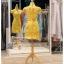 รหัส ชุดกี่เพ้า :KPS042 ชุดกี่เพ้าพร้อมส่ง มีชุดกี่เพ้าคนอ้วน แบบสั้น สีเหลือง ปักลูกไม้ ดิ้นทอง คัตติ้งเป๊ะมาก ใส่ออกงาน ไปงานแต่งงาน ใส่เป็นชุดพิธีกร ชุดเพื่อนเจ้าสาว ชุดถ่ายพรีเวดดิ้ง ชุดยกน้ำชา หรือ ใส่ ชุดกี่เพ้าแต่งงาน สวยมากๆ ค่ะ thumbnail 2