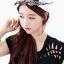 หมวกแฟชั่นแนวฮิปฮอปติดผ้าเอาไว้ผูกโบว์ เพิ่มความหวานสไตล์เกาหลี-H003-สีขาว thumbnail 1