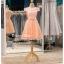 รหัส ชุดราตรีสั้น :BB044 มีชุดราตรีสวย สีโอรส ชุดไปงานแต่งสั้น เหมาะใส่งานหมั้น งานเช้า หรู พร้อมส่งเยอะสุดในไทย เนื้อผ้าพรีเมี่ยม คัตติ้งเนี๊ยบๆ thumbnail 4