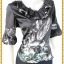 3277 ชุดเซ็ทคู่กัน เสื้อแยกชิ้นกับกระโปรง ชีฟอง ขาว ดำ เสื้อคู่กระโปรงขาวดำแต่งปกระบายแขนบอลลูนระบายชายเอว thumbnail 2
