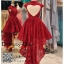 รหัส ชุดราตรี :PF184 ชุดแซก ชุดราตรีสั้นสวยหรูโชว์หลังรูปหัวใจสีแดง ชุดไปงานแต่งเหมาะสำหรับงานกลางคืน ชุดถ่ายพรีเว็ดดิ้งหน้าสั้นหลังยาว ชุดเดรสออกงานกาล่าดินเนอร์ thumbnail 2